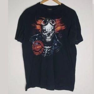 Harley Davidson Mancuso Evil Skeleton Clown Sz L